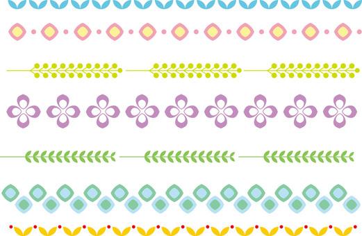 シンプルな飾り罫9 カラー