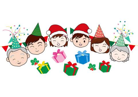 Christmas Party Three Generation Family
