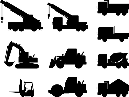 Construction vehicle silhouette