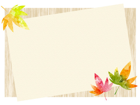 Fall color frame ver 06