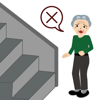 Images that can not climb the stairs (grandfather)