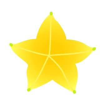 Star fruit section