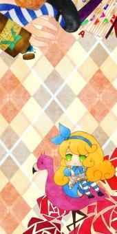 Alice in Wonderland wallpaper for smartphones