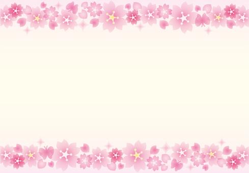 Sakura glittering frame line 2