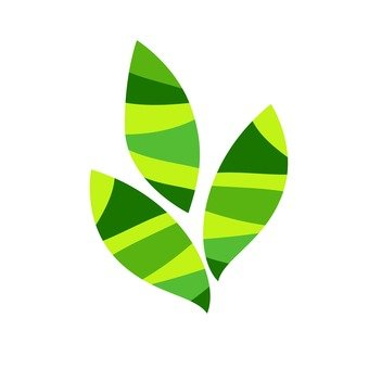 Scandinavian leaves (green, plural)