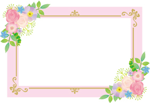 Flower pink decoration card