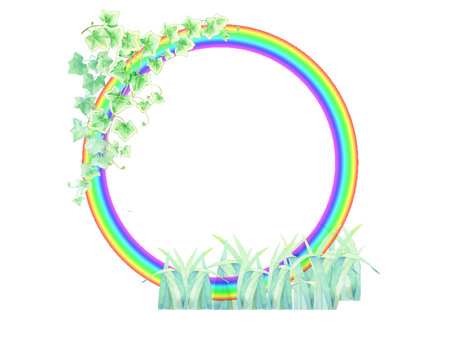 Rainbow ring (rainbow and grassy field) ★ 0061-N