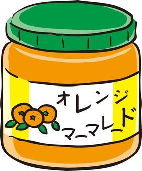 Orange, jam, marmalade