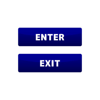 Entrance and exit button