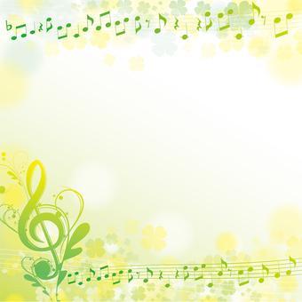 Yellow and green elegant torso symbol square frame