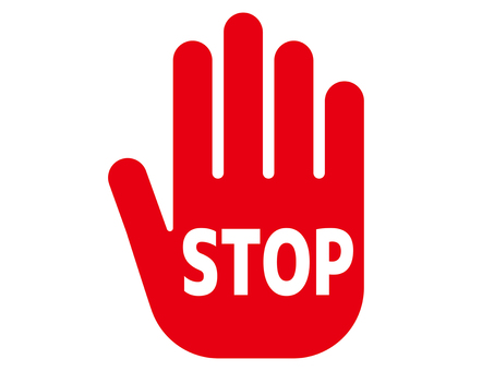 Stop palm icon