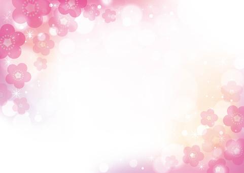 梅の花_和風背景10