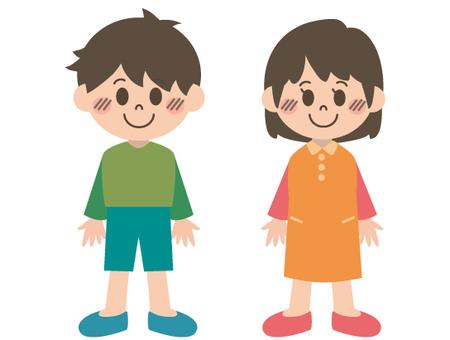 兒童插畫(微笑)