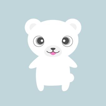 站立的白熊