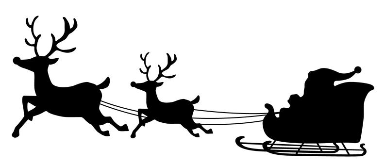 聖誕剪影黑色