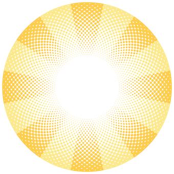 ドットグラデーション6・黄色