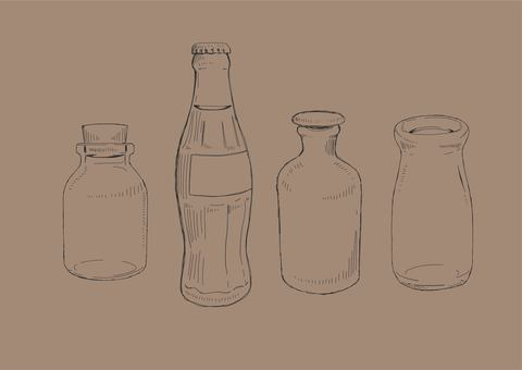 Hand drawn antique bottle 01 black