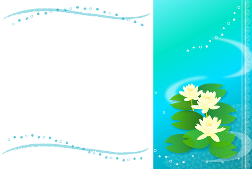 Water lilies frame