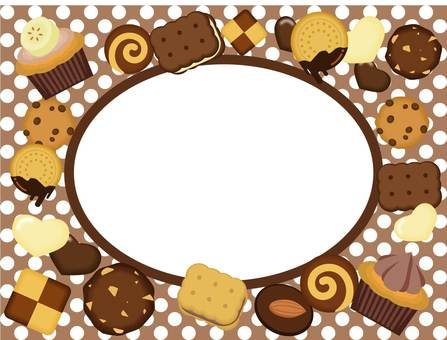 Candy frame chocolate