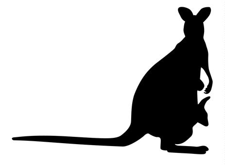 Silhouette - Kangaroo 01