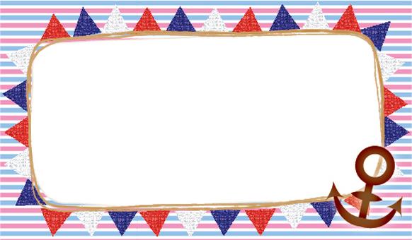 Marine flag frame