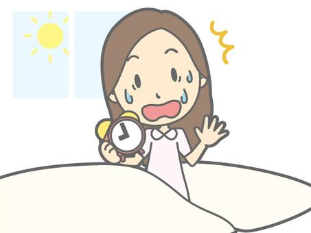 Woman - sleeping lies oversleep