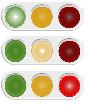 Illuminated traffic light