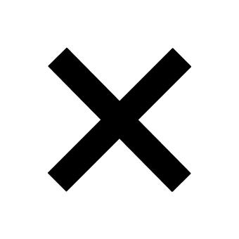 Mark to put on (symbol ×)