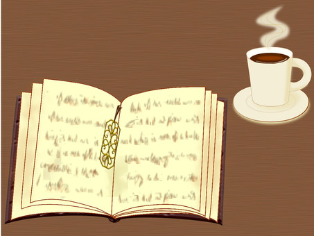 Autumn book and coffee for reading
