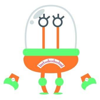 Orange capsule robot