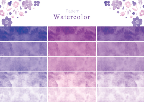 Watercolor pattern swatch part 7 purple