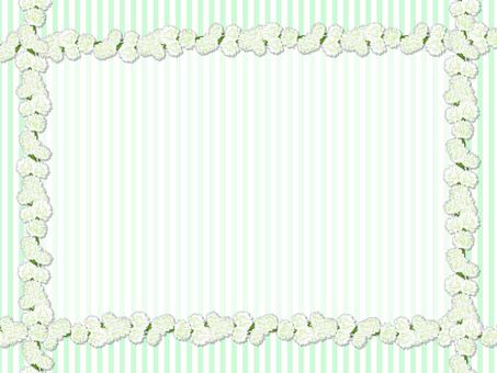 White clipper card (green)