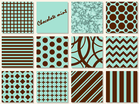 Chocolate mint pattern sample set