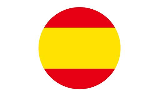 Spanish flag circle icon