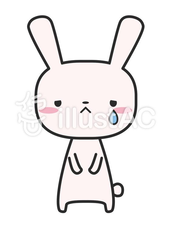 ウサギ 悲しいイラスト No 1105993無料イラストならイラストac