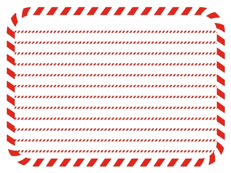 Striped stationery