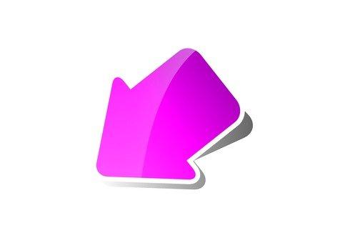 左下角的箭頭(粉紅色)