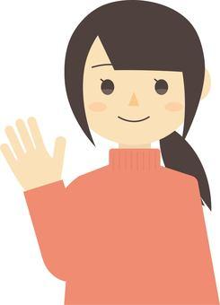 Women who raise their hands