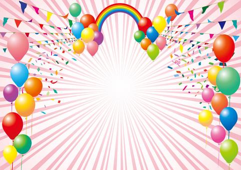 加兰国旗体育气球气球彩虹框架