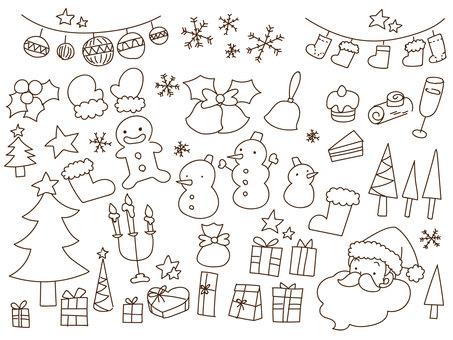 Christmas drawing set