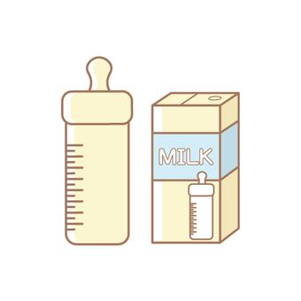 Baby bottle and liquid milk