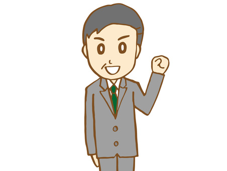 Salaryman 16-3 (Upper body up)