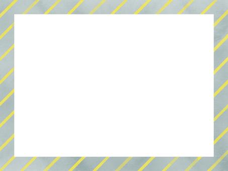 水彩グレー蛍光黄色斜め線枠