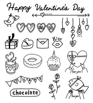 Valentine's set black and white