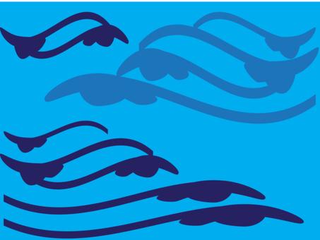 Blue wave 1600 × 1200 px