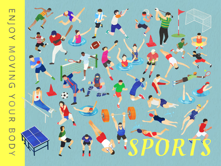 Illustration set of various sports
