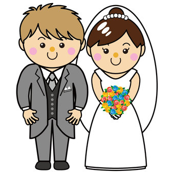 Men and women 30_01 (wedding, bride and groom)
