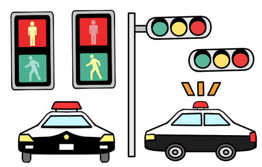 Police car and signal
