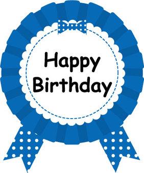Birthday rosette (blue)