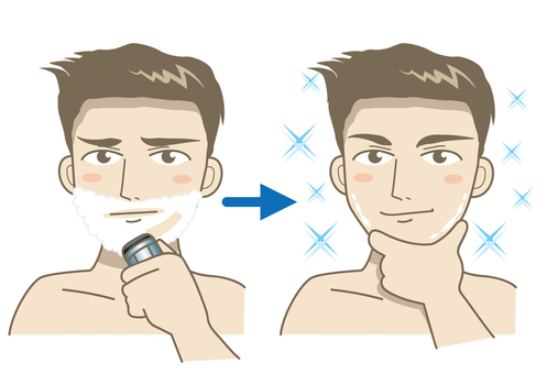 Shaving / Before after